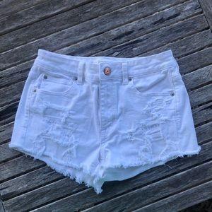 American Eagle white jean shorts - super stretch 8